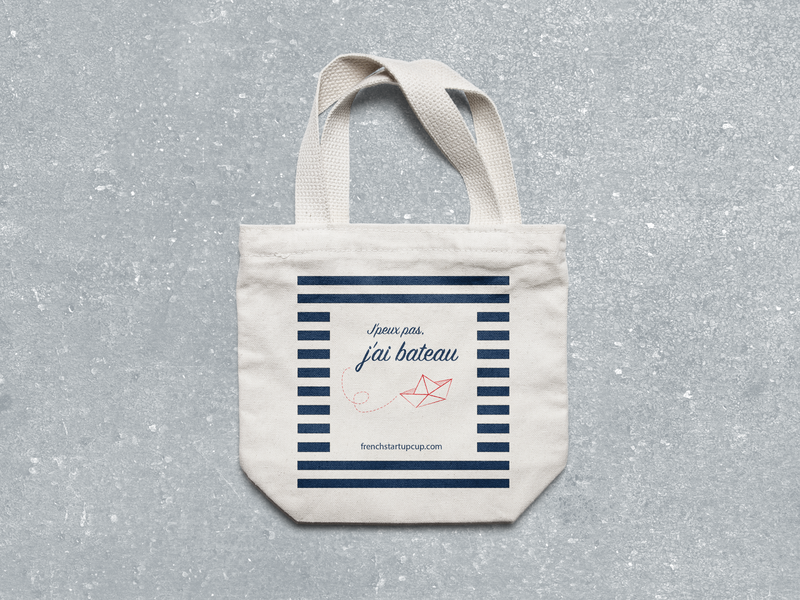French Startup Cup — Totebag tote bag totebag sailing goodies print vector design branding frenchstartupcup