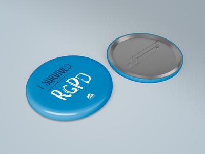 I survived RGPD — Badges gdpr rgpd pin badges pins goodies print vector illustration design branding