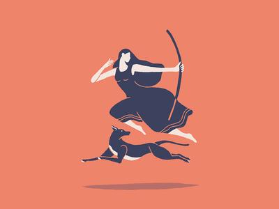A Woman & A Hound