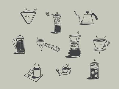 Coffee Icons icon line work coffee illustration mark icons