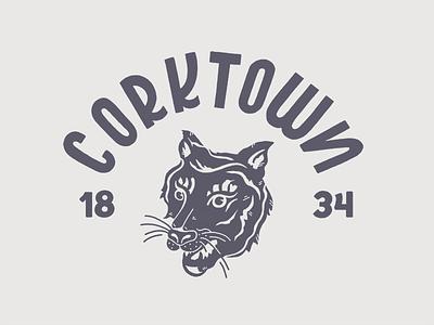 Corktown Tiger illustration mark logo shirt tiger