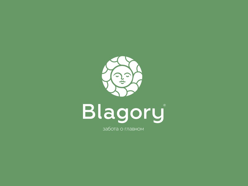 Blagory good feminine yelow greens longevity benefit energy health nature face women vegetarian organic eco mark store web identity logotype logo