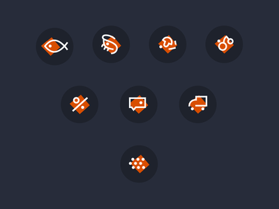 Wild fish — icon set lu4 mark comment set web design fishing buttons web icons icon set delivery sale fruit river ocean mushrooms crib fish wild