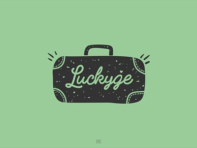 Luckyge leather bag logotype logo love lucky luck