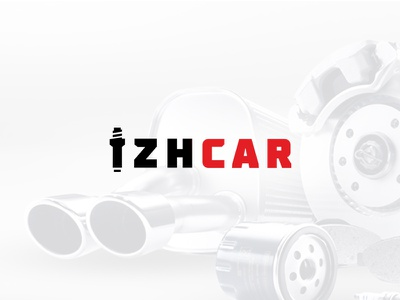 izhcar logotype logo shop logo parts shop car