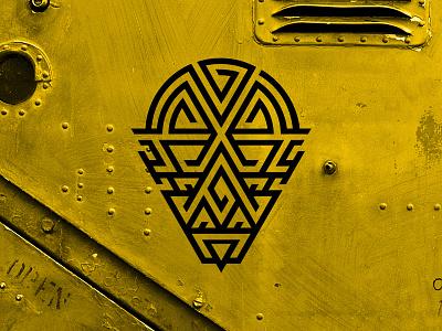Moslabyrinth quest sign iron irones steam punk labyrinth lu4 logotype logo team building