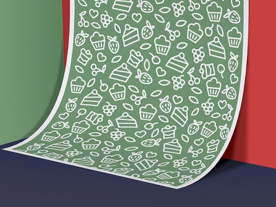 Not sugar! leaf love packaging strawberry pink cake desserts poster logotype lu4 logo sugar pattern