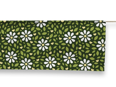 Zhivaja peace love ecology eco pattern chamomile leafs leaf green forest flowers