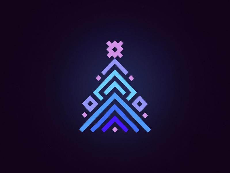 Christmas tree 2020 christmas tree logo design santa gifts new year tree