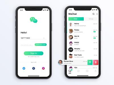 WeChat App ui app wechat