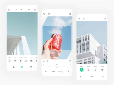 Photo Editor app illustration ui