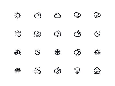 Weather icon icon illustration ui