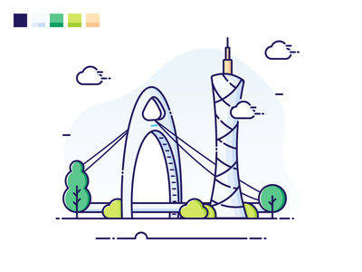 Canton Tower illustration