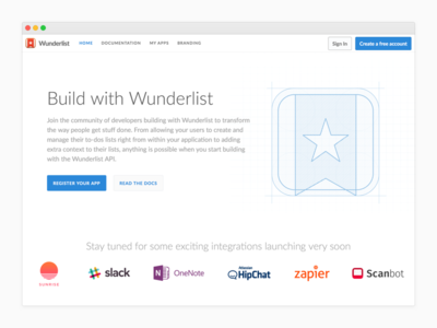 Wunderlist Developer - Public API svg website developer wunderlist