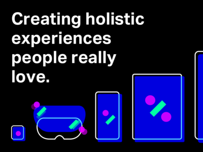 Creating holistic experiences people really love typography devices color shapes graphics slides