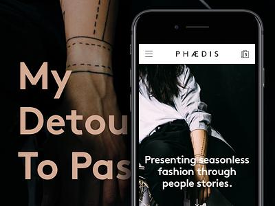 My Detour to Passion — PHAEDIS shopoing mobile fashion shop ecommerce website phaedis