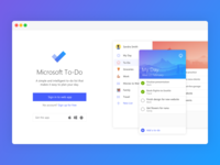 Microsoft To-Do Landing Page