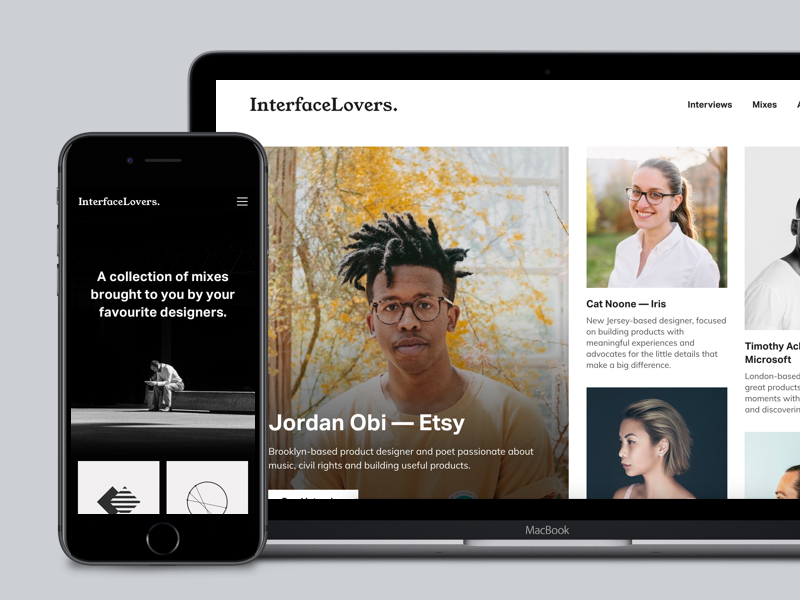 Interface Lovers — Interviews from your favourite designers articles profiles white minimal grid interviews magazine website