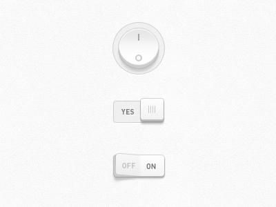 Switch & Slide ui switch white texture light slider on off button