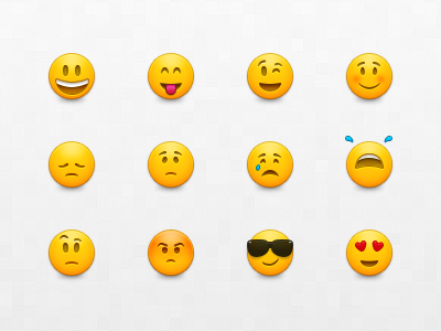 Emoticons emoticons smileys emoji faces cartoon vector cool crying sad happy angry confused in love disappointed cheeky shy