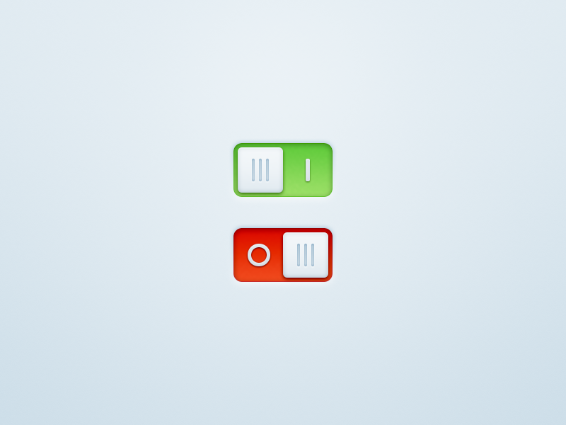 Switches! PSD ui switch toggle button interface