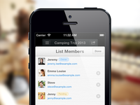 Wunderlist 2 - List Members