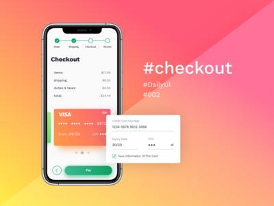 #DailyUI #002 — Checkout