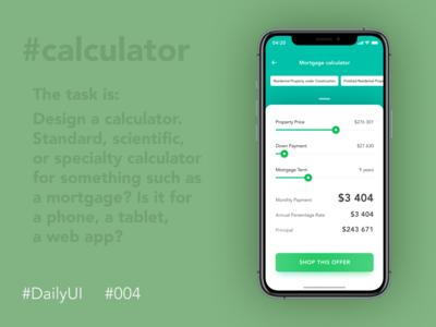 #DailyUI  #004 — Mortgage Calculator
