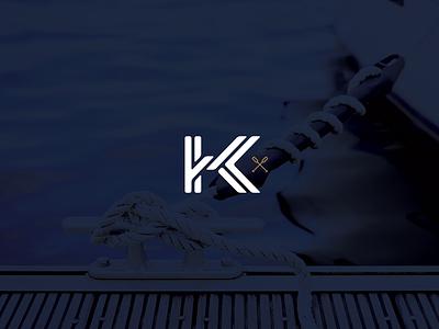 K Knot lettering sail k kk monogram