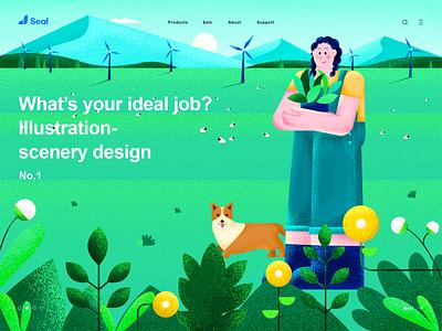 Landscape illustration web illustration