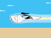 Rocket Bike Intermediary Illustration