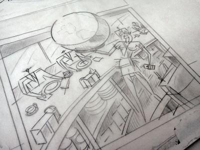 World Diner Sketch
