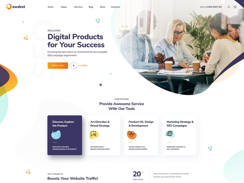 Ewebot  - SEO & Marketing WordPress Theme social media marketing agency seo theme seo agency theme seo agency seo media agency marketing agency marketing digital marketing agency digital marketing digital agency consulting agency