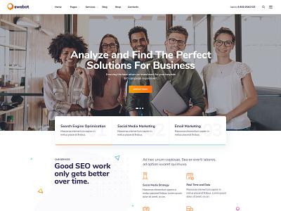 Ewebot Agency WordPress Theme - New Homepage social media marketing agency seo theme seo agency theme seo agency seo media agency marketing agency marketing digital marketing agency digital marketing digital agency consulting agency