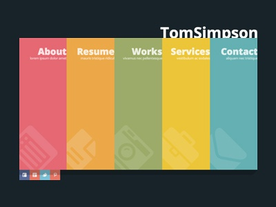 Free One Page vCard Template by GT3themes.com - Dribbble