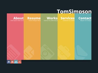 Free One Page vCard Template free vcard html template one page design psd