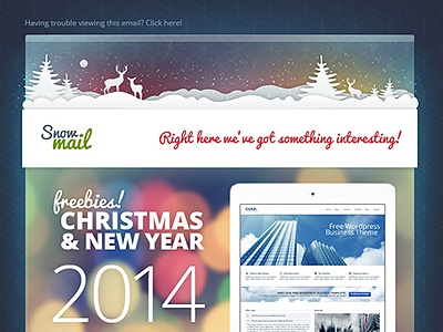 free xmas email templates by gt3themes com dribbble dribbble