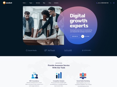 Ewebot - Business Consulting Style WP Theme wordpress template seo agency digital agency marketing wordpress gt3themes business consulting wordpress wp theme seo wordpress wordpress theme wordpress