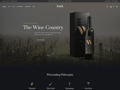 Wizestore Wordpress Theme Winery Skin sell online wordpress ecommerce wordpress template wp skin winery wordpress woocommerce wordpress theme wordpress