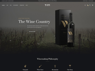 Wizestore Wordpress Theme Winery Skin