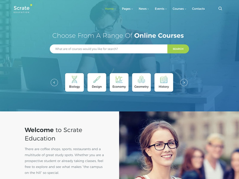 Scrate Wordpress Theme For Education And Teaching Online Cours By