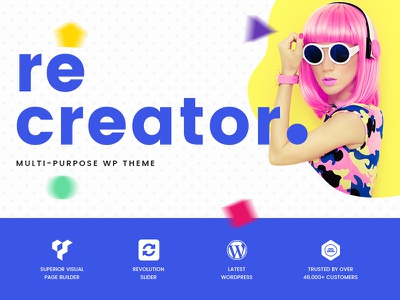 Recreator Multipurpose Creative Wordpress Theme wordpress template travel portfolio web design visual composer recreator multipurpose theme wordpress creative
