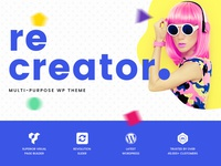 Recreator Multipurpose Creative Wordpress Theme