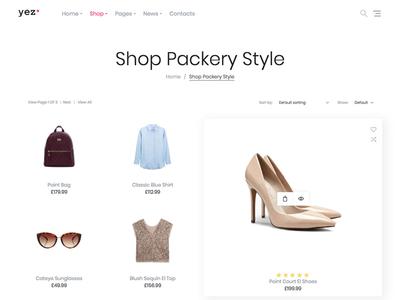 Yez WooCommerce WordPress Theme - Shop Packery Style