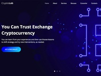 Cryptolab One Page Website Template