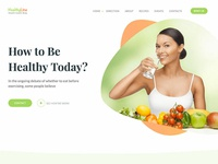Health Coach One Page Website Template