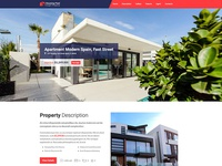 Single Property One Page Website Template