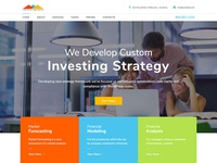 Investments One Page Website Template