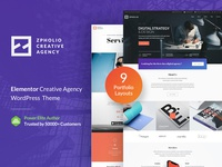 Zpholio WP Theme New Home Page