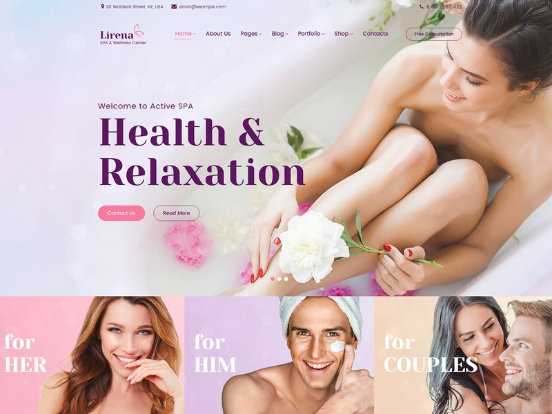 Lirena - Elementor Spa Beauty Center Wordpress Theme elementor template wordpress template wordpress theme wellness spa wellness center wellness therapy spa website spa resort spa massage therapy massage spa massage health day spa beauty shop beauty salon beauty